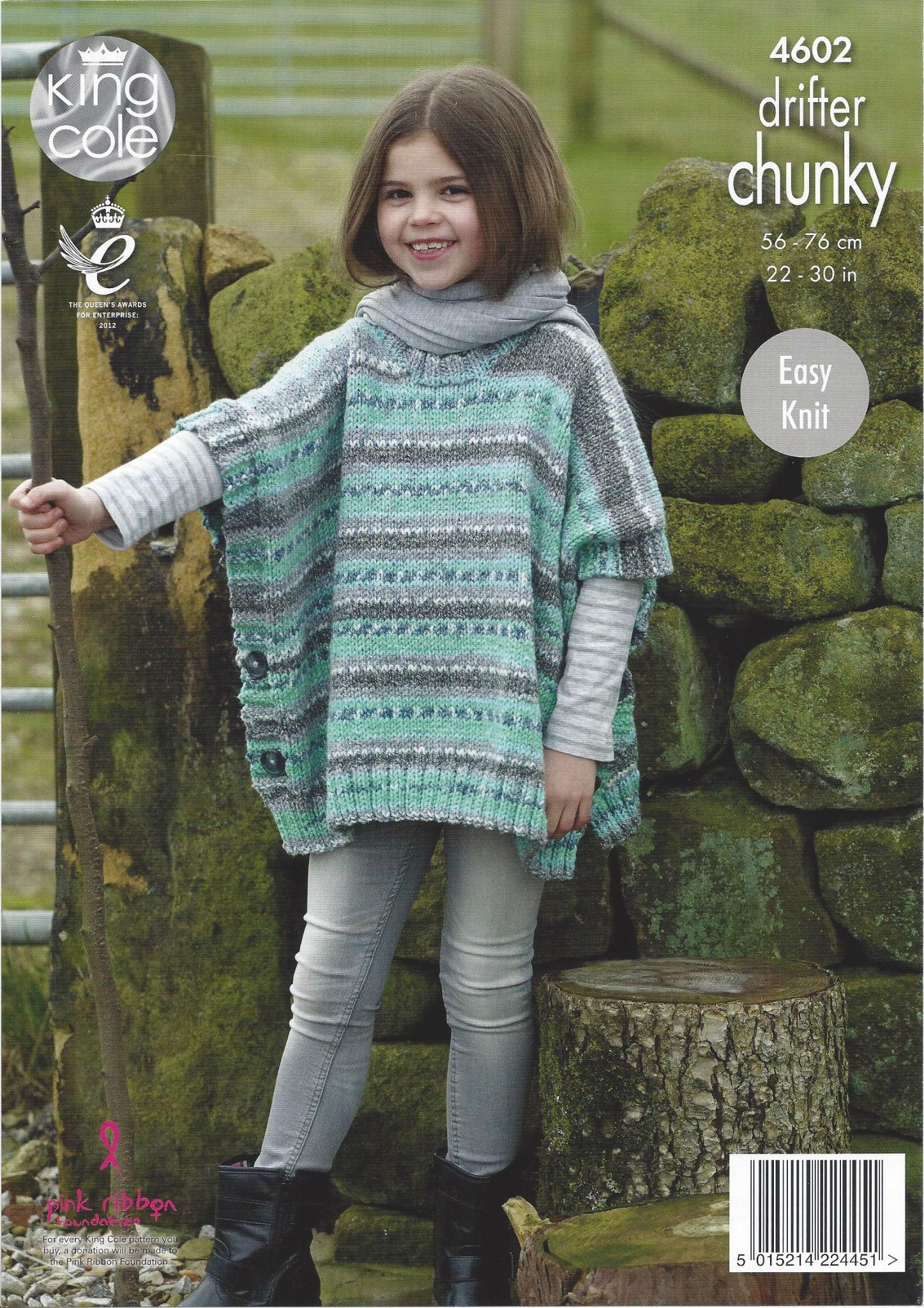 King Cole Drifter Chunky 4602 Poncho Knitting Pattern